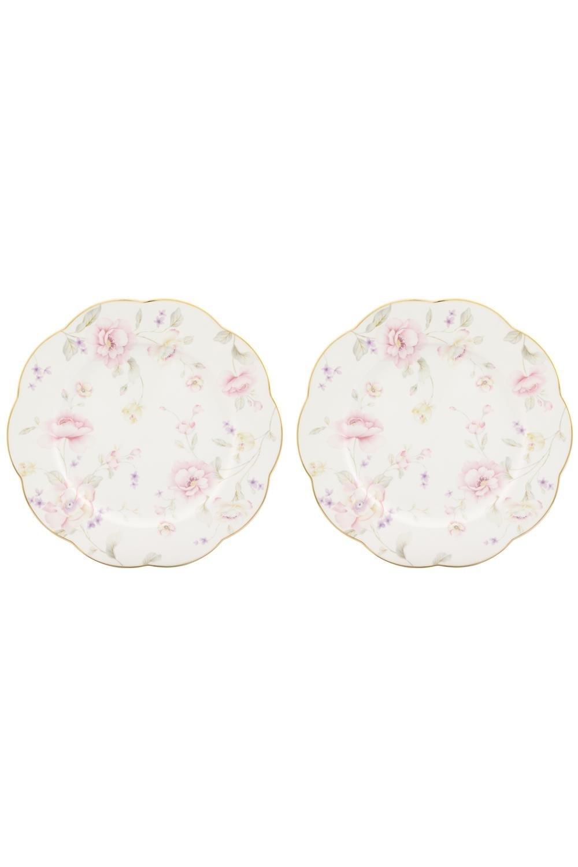 Набор обеденных тарелок ЖизельПосуда<br>2 предмета, 26,5*26,5*2 см.  Фарфор<br>