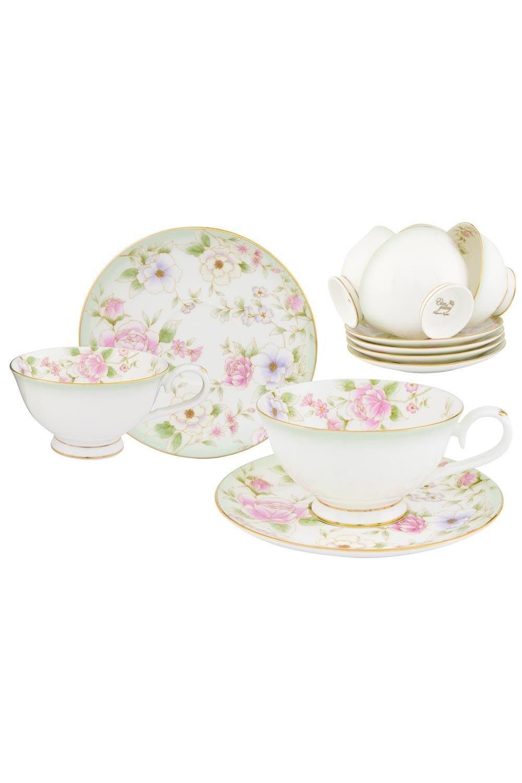Чайный набор Карнавал цветов чайный набор маки 12 предметов блюдце 15 15 2 5 см 6 шт чашка на ножке 12 5 10 7 см 250 мл 6 шт в п у 1236245