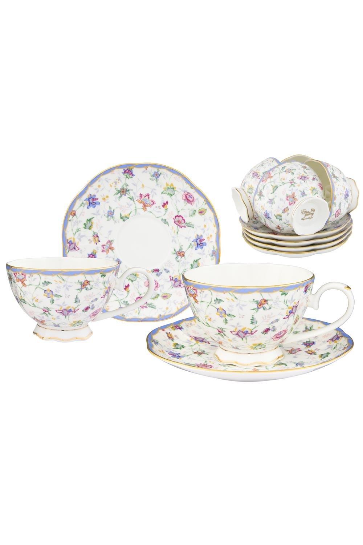 Чайный набор Цветочный каприз чайный набор маки 12 предметов блюдце 15 15 2 5 см 6 шт чашка на ножке 12 5 10 7 см 250 мл 6 шт в п у 1236245