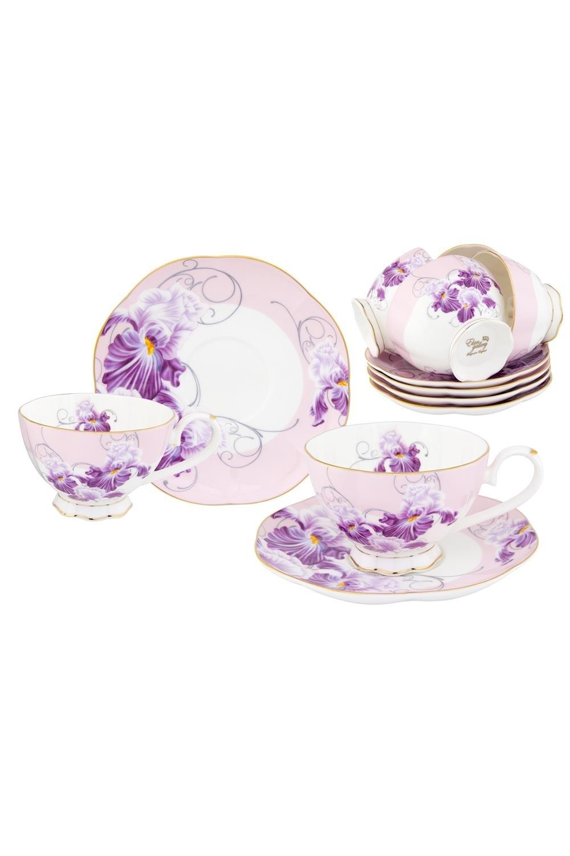 Чайный набор Ирисы чайный набор маки 12 предметов блюдце 15 15 2 5 см 6 шт чашка на ножке 12 5 10 7 см 250 мл 6 шт в п у 1236245