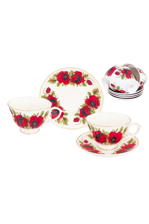 Чайный набор Маки чайный набор маки 12 предметов блюдце 15 15 2 5 см 6 шт чашка на ножке 12 5 10 7 см 250 мл 6 шт в п у 1236245