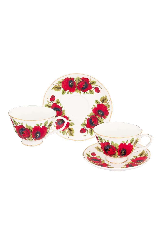 Чайная пара Маки чайный набор маки 12 предметов блюдце 15 15 2 5 см 6 шт чашка на ножке 12 5 10 7 см 250 мл 6 шт в п у 1236245