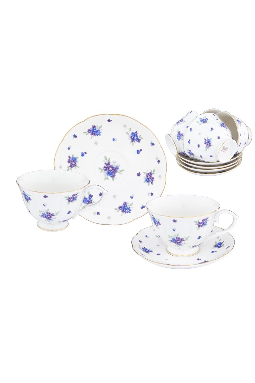 Чайный набор Сиреневый туман чайный набор маки 12 предметов блюдце 15 15 2 5 см 6 шт чашка на ножке 12 5 10 7 см 250 мл 6 шт в п у 1236245