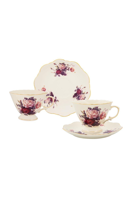 Чайная пара Бархатный нектар чайная пара нежные розы 275 мл 4 предмета в подарочной упаковке 801142