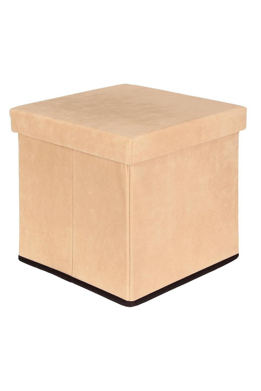 Пуф складной с ящиком для хранения Бежевый