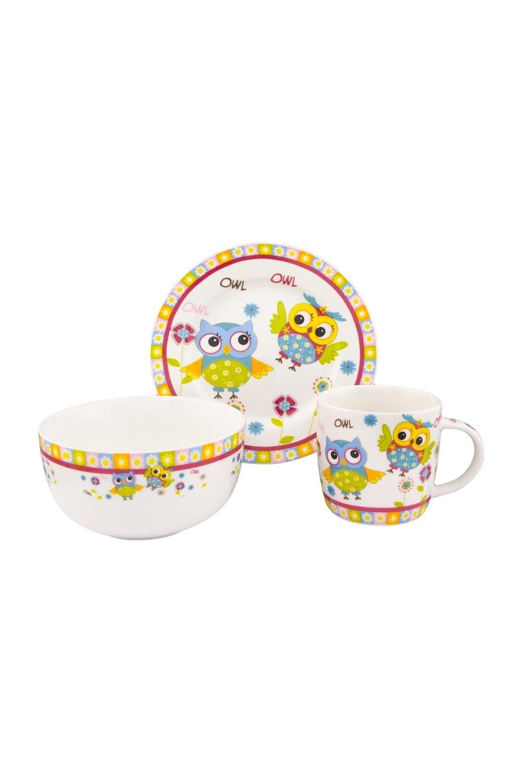 Набор посуды Забавные красочные совята