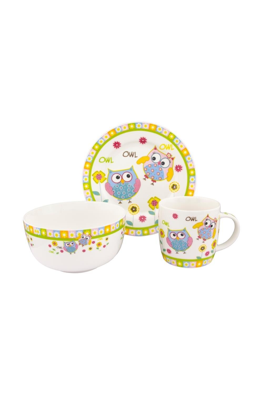 Набор посуды Милые красочные совята