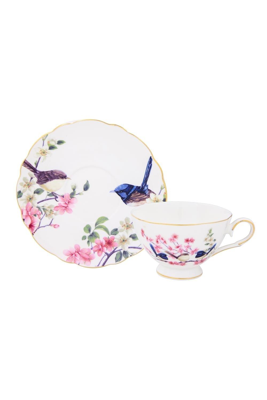 Чайная пара Райские птички чайная пара фарфор вербилок маки 2 предмета 29951530