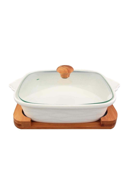 Блюдо для запекания и сервировки Айсберг блюдо для запекания 20 13 5 9 5 см 575 мл белый шиповник с ручками крышка 1232903