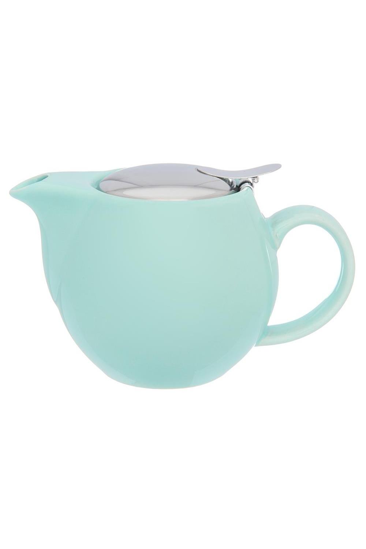Чайник МятныйПосуда<br>500 мл. 17,5*11,5*10 см., с металлической крышкой и ситом. Керамика<br>