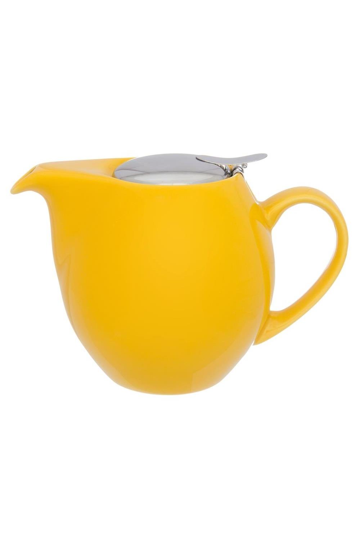 Чайник Сочный лимонПосуда<br>18,5*11,5*13 см. 900 мл ., с металлической крышкой и ситом. Керамика<br>