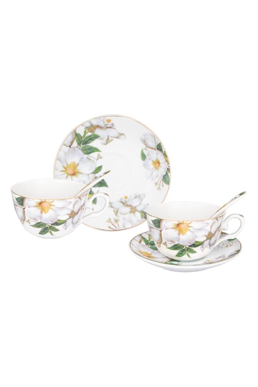 Чайная пара Белый шиповник чайная пара нежные розы 275 мл 4 предмета в подарочной упаковке 801142