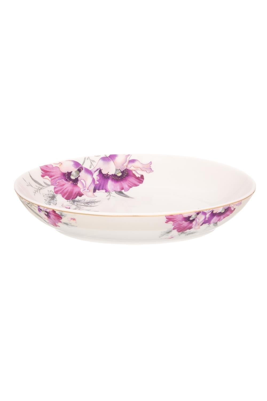 Блюдо для слоеных салатов Серебристый мак