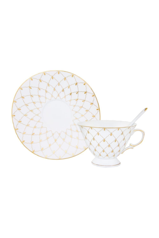 Чайная пара Золотая сетка чайная пара с крышкой кобальтовая сетка форма подарочная 2 ифз