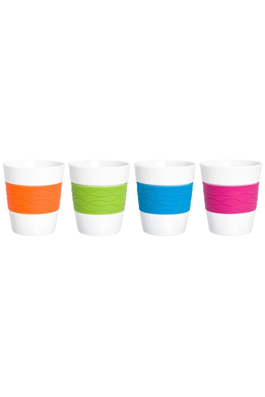 Набор 4 стаканов Радуга