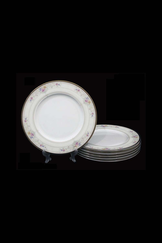 Набор тарелок НежностьПосуда<br>Набор тарелок 21,5см (6 шт) в подарочной упаковке, костяной фарфор.<br>