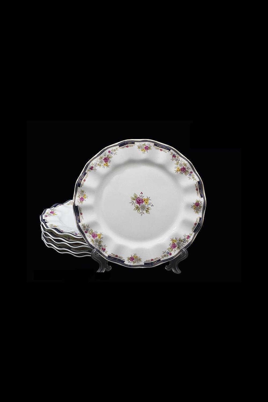 Набор тарелок ПалермоПосуда<br>Д=20 см, костяной фарфор.<br>
