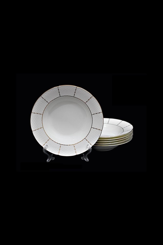 Набор глубоких тарелок СоррентоПосуда<br>6 шт, Д=23 см, фарфор.<br>