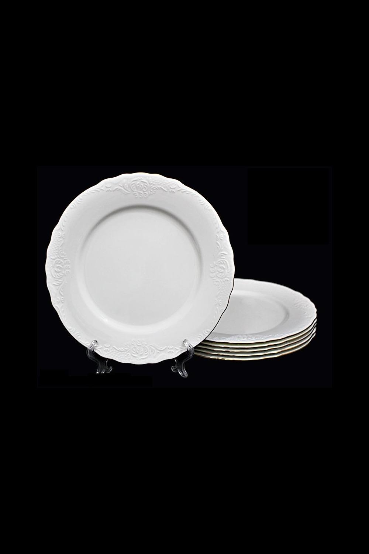 Набор тарелок МонтебеллоПосуда<br>6 шт, Д=27 см, фарфор.<br>
