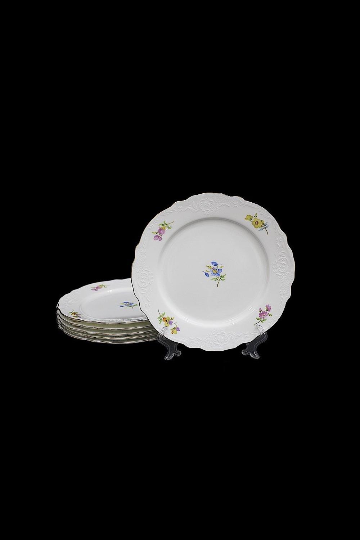 Набор тарелок ДжустоПосуда<br>6 шт, Д=21 см, фарфор.<br>