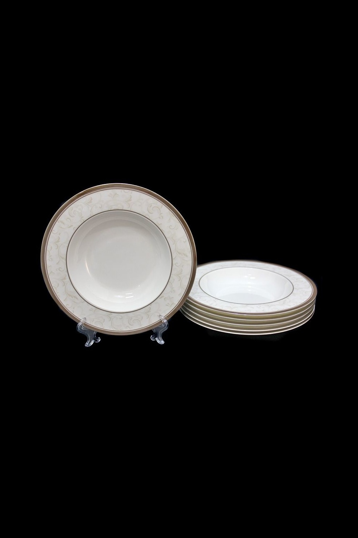 Набор глубоких тарелок МонтегроссоПосуда<br>Набор из 6 глубоких тарелок, Д=23см, костяной фарфор.<br>