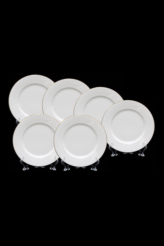 Набор тарелок МаджореПосуда<br>6 шт, Д=21 см, костяной фарфор.<br>
