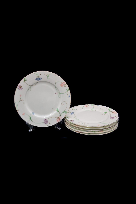 Набор тарелок НовеллоПосуда<br>Набор из 6 тарелок, Д=21,5см, костяной фарфор.<br>