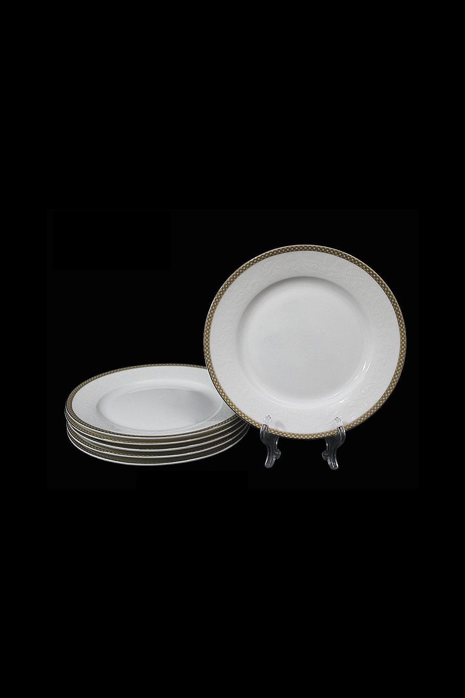 Набор тарелок ОвильоПосуда<br>Набор 6 тарелок в подарочной упаковке, Д=17см, костяной фарфор.<br>