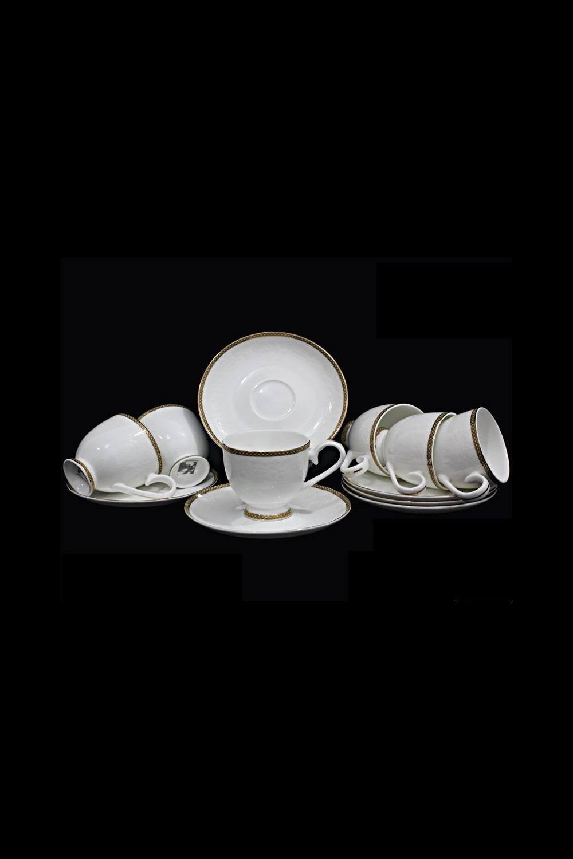 Кофейный набор ОвильоПосуда<br>Кофейный набор 12 предметов (6 шт- чашки 100мл, 6 шт- блюдце Д=12см), костяной фарфор.<br>