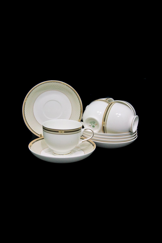 Чайный набор ПечеттоПосуда<br>Чайный набор 12 предметов (6 шт-  чашки, 6 шт-  блюдце), костяной фарфор.<br>