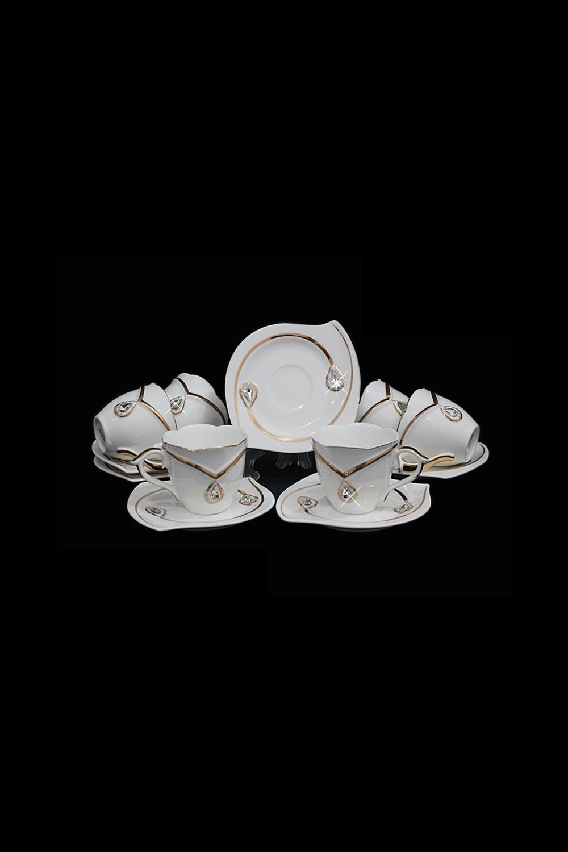 Кофейный набор ПимонтеПосуда<br>Кофейный набор 12 предметов (6 шт- чашки, 6 шт- блюдце), фарфор.<br>