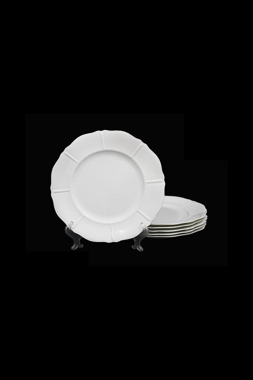Набор тарелок СеверинаПосуда<br>Набор из 6 тарелок 21,5см в подарочной упаковке, фарфор.<br>