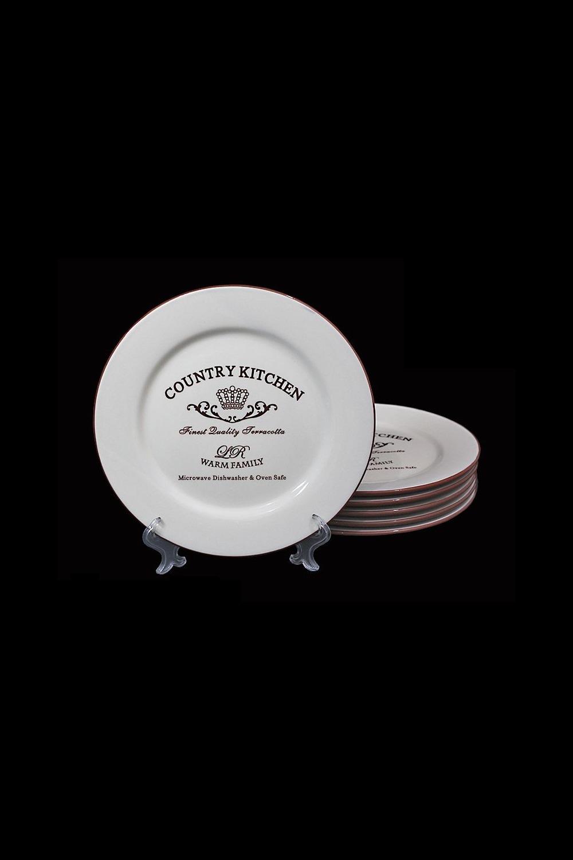Набор тарелок СантерамоПосуда<br>6 шт, Д=21 см, керамика.<br>