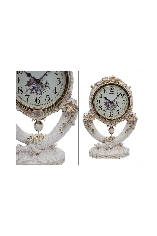 Часы настольные БарбарескоИнтерьер<br>Длина 28 см, высота 43 см, полистоун.<br>