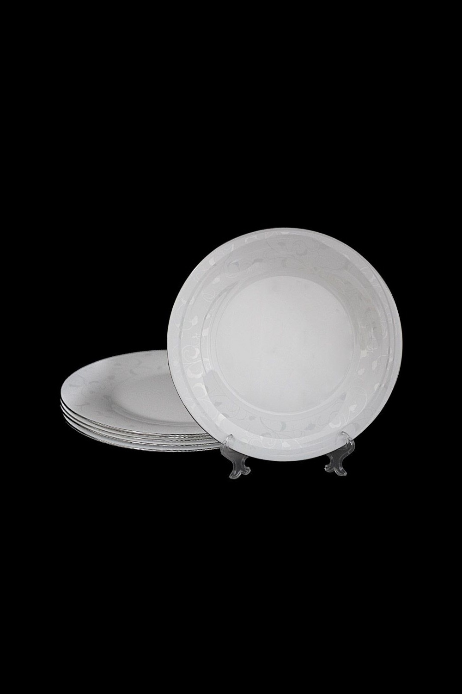 Набор тарелок СельвиноПосуда<br>Набор из 6 тарелок, Д=28см, опаловое стекло.<br>