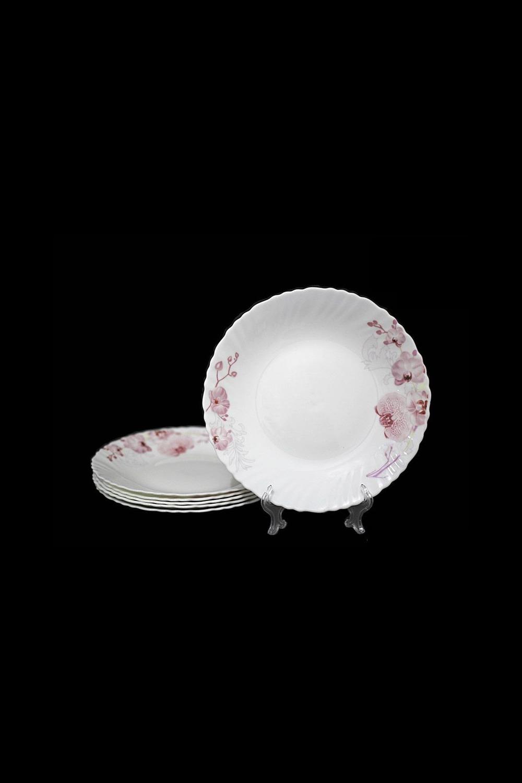 Набор тарелок ФеличитатеПосуда<br>Набор из 6 тарелок, Д=21,5см, опаловое стекло.<br>