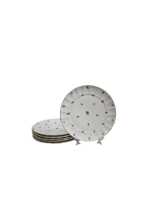 Набор тарелок ДоменикаПосуда<br>6 шт, Д=19,5 см, фарфор.<br>