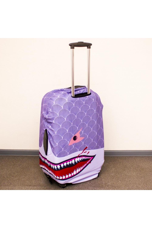 "Чехол для чемодана ""Фиолетовая акула M"""