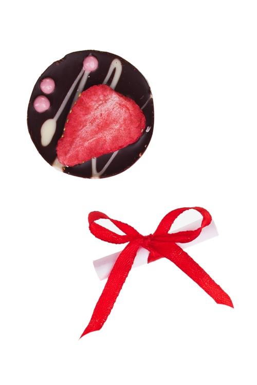 Шоколад с предсказанием Чоко с клубникойСладости<br>10г, Д=4см<br>