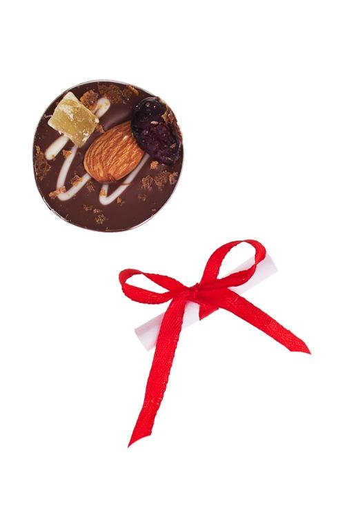 Шоколад с предсказанием Чоко с миндалемСладости<br>10г, Д=4см<br>
