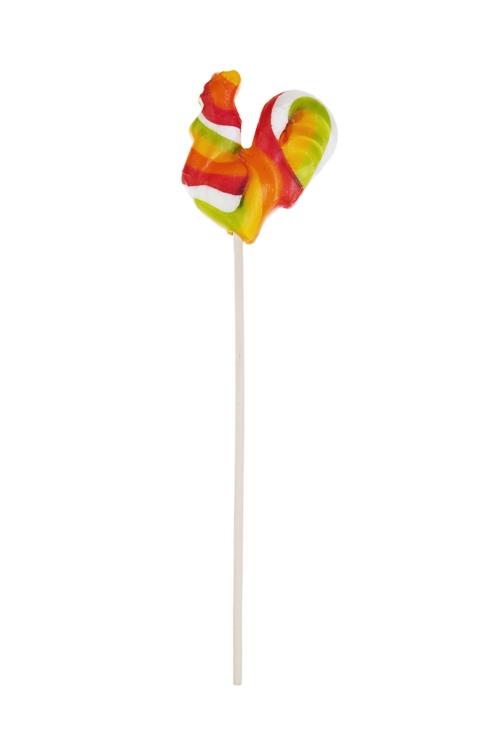 Леденец Огненный петушокНовогодние сладости<br>Карамель леденцовая со вкусом фруктовый взрыв, 30г, на палочке<br>