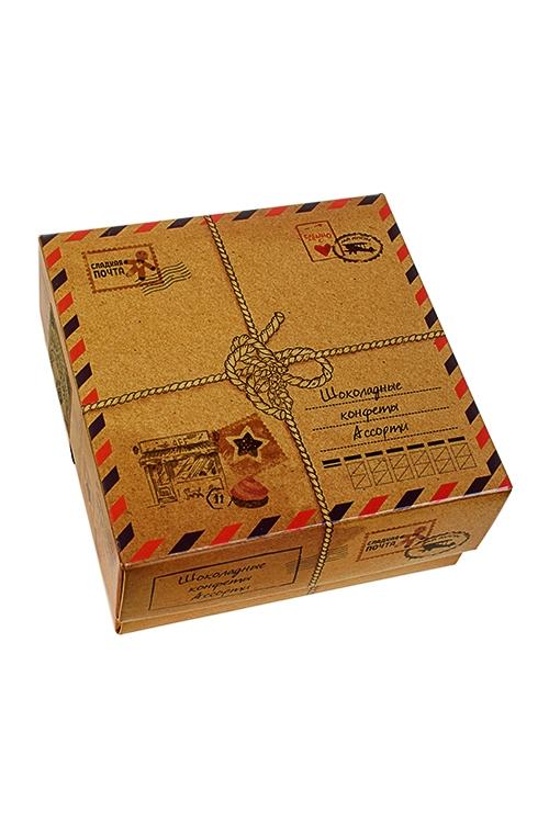 Конфеты Сладкая почтаПодарки для женщин<br>Конфеты ассорти в молочном и темном шоколаде (крем-орех и пломбир), 110г<br>