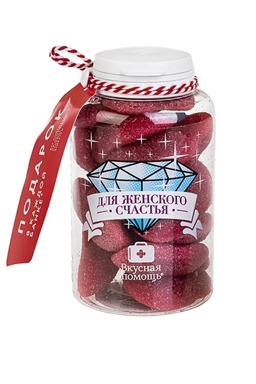 Конфеты Вкусная помощь с жевательной резинкой Для женского счастья конфеты вкусная помощь для храбрости 250 мл