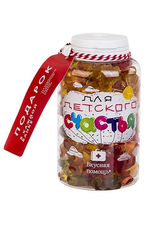 Конфеты Вкусная помощь с жевательной резинкой Для детского счастья конфеты вкусная помощь для храбрости 250 мл