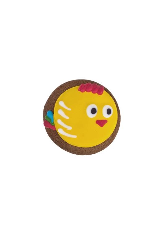Сувенир пряник Птичка-петушокСувениры и упаковка<br>Д=8см, желтый<br>