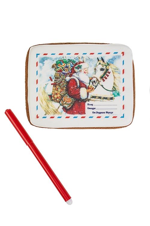 Набор для творчества Письмо от Деда Мороза ретроСувениры и упаковка<br>Пряник 9*12см, пищ. фломастер<br>