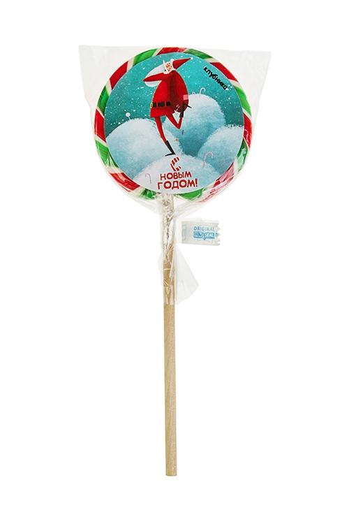 Леденец на палочке Веселый СантаНовогодние сладости<br>Леденец, 85г, с наклейкой, на палочке<br>