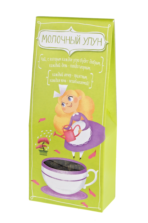 Чай Бодрящий улунСувениры и упаковка<br>Чай молочный улун цветок ночи, 75г<br>
