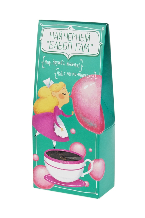 Чай Мир, дружба, баббл гам!Подарки для женщин<br>Чай черный Мишки Гамми, 50г<br>