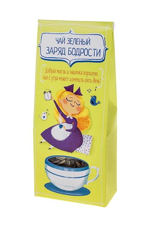 Чай Добрая мысльСувениры и упаковка<br>Чай зеленый заряд бодрости, 50г<br>